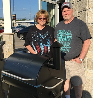 Grill Winners Diane and John